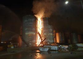 На территории нефтехимического завода в Таррагоне произошел взрыв